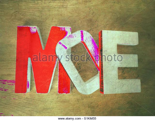 the word Moe' - Stock Image