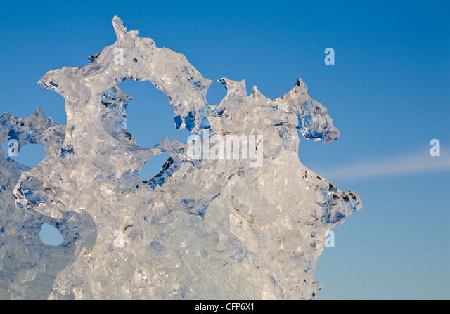 Ice, close-up - Stock Image
