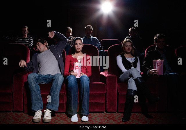 People at the cinema - Stock Image