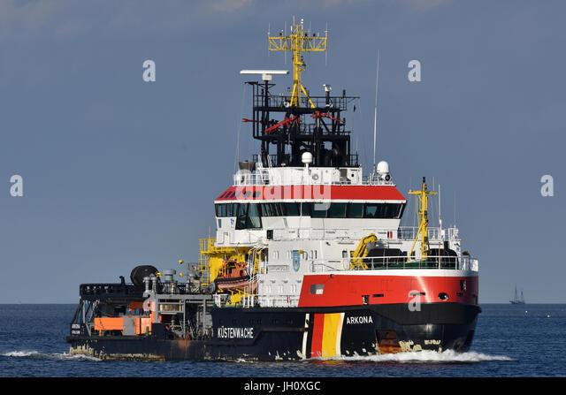 Pollution Control Vessel Arkona - Stock Image