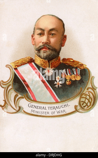 General Terauchi - Japanese Minister of War - Stock Image