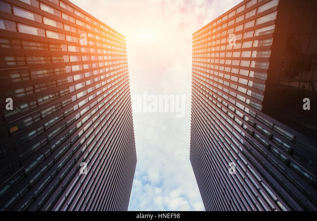 High-rise building in the sky - Stock Image