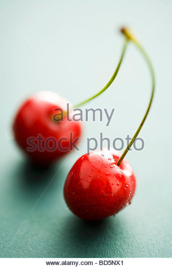 A pair of cherries - Stock Image