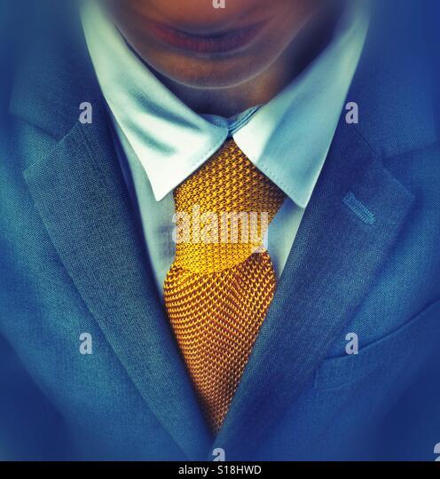 A bright yellow tie - Stock-Bilder