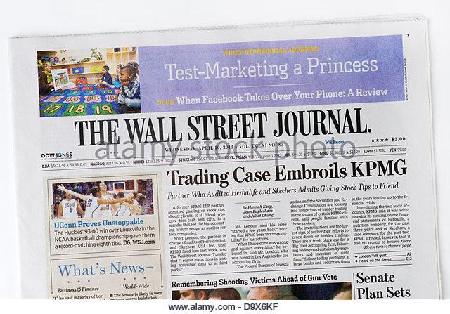 Wall Street Journal Stock Photos & Wall Street Journal ...