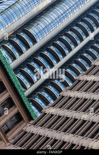 Contrasting architectural styles in downtown Vancouver, Canada - Stock Image