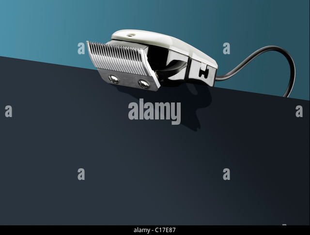 Hair clippers on - conceptual - Stock-Bilder
