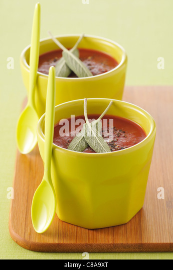 Spicy tomato soup - Stock Image