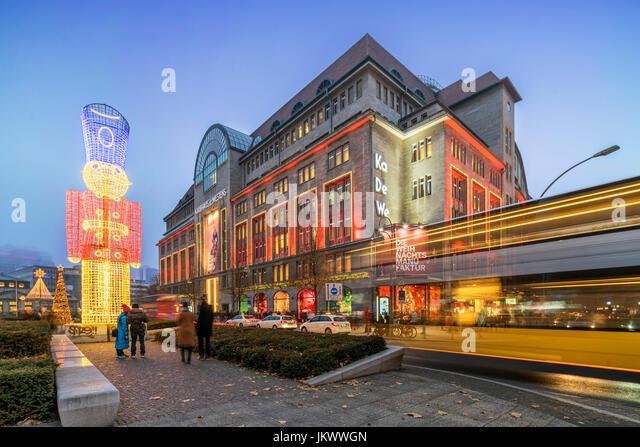 KA DE We, christmas illumination, Tauenziehen, Berlin - Stock Image