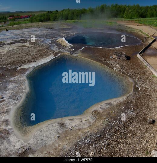 Lagoon, geothermal - Stock-Bilder