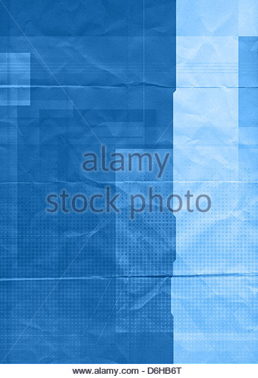 graphic paper blue - Stock Image