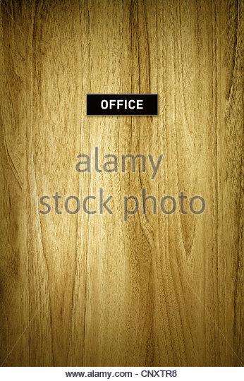 office door sign - Stock Image