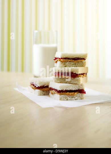 peanut butter and jelly - Stock Image