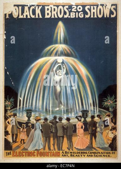 Polack Bros - 20 big shows. The electric fountain: a bewildering combination of art, beauty, and science. - Stock Image