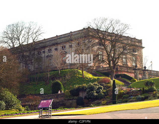 Nottingham Castle,England,UK. - Stock Image