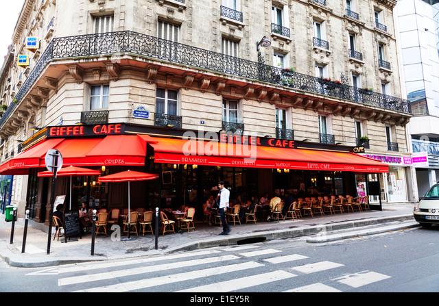 Paris Cafe Eiffel Tower Stock Photos Paris Cafe Eiffel Tower Stock Imag