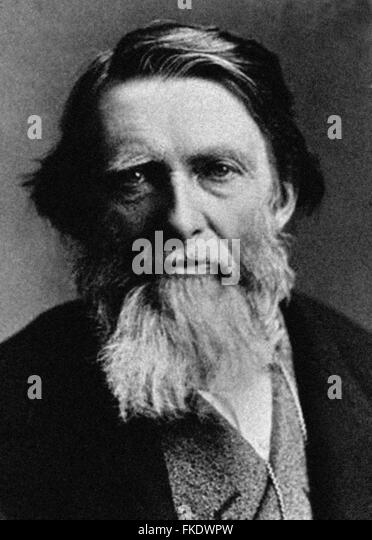 John RUSKIN (b1819) was and English artist and art critic. From the archives of Press Portrait Service - formerly - Stock Image