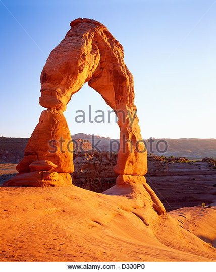 'Delicate Arch' sunset [Arches National Park] Utah - Stock Image