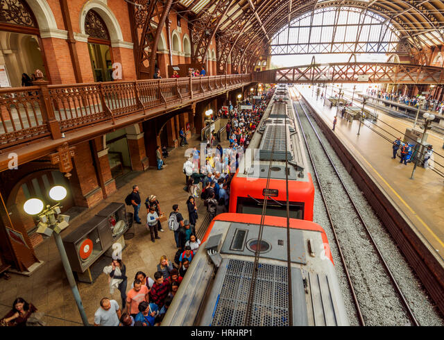 Interior view of the Luz Station, City of Sao Paulo, State of Sao Paulo, Brazil - Stock-Bilder