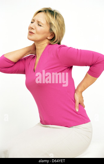 Back pain - Stock Image