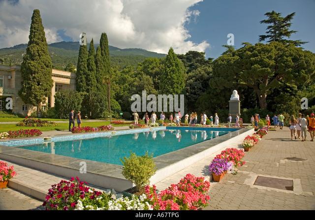 Botanical Garden, Jalta, Crimea, Ukraine, South-Easteurope, Europe, - Stock Image