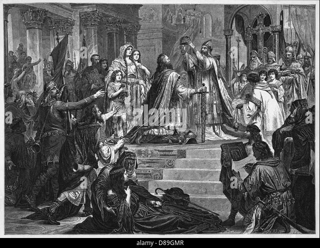 A biography charlemagne a king of the franks who united most of western europe during the early midd