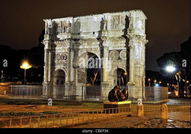 Roma Arco Di Costantino - Stock Image