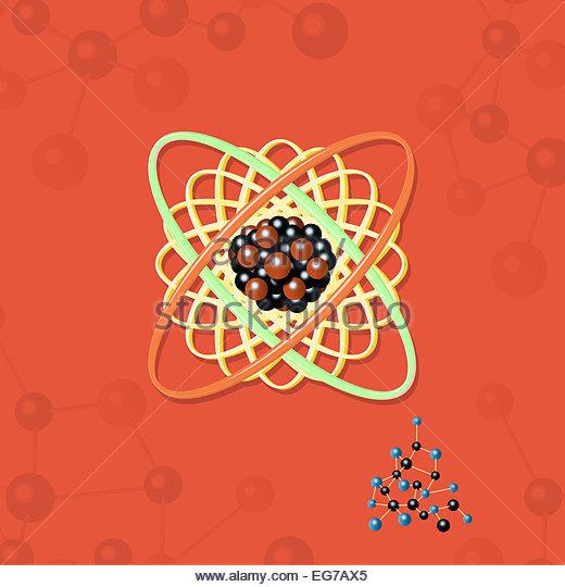 Atomic energy structure science illustration - Stock-Bilder