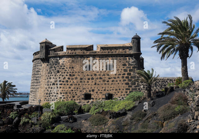 Spain, Canary islands, Lanzarote, Arrecife, Castillo San Jose - Stock Image