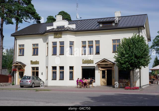 Hotel Helmi in Ainazi. Latvia EU - Stock Image