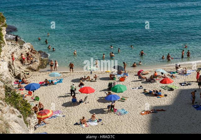 Italy, Tropea, beach - Stock Image