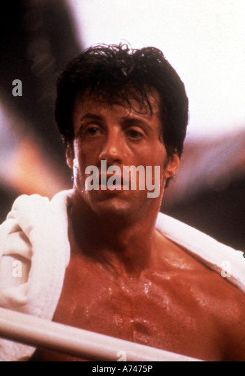 ROCKY 1976 UA/Chartoff-Winkler film with Sylvester Stallone as Rocky Balboa - Stock Image