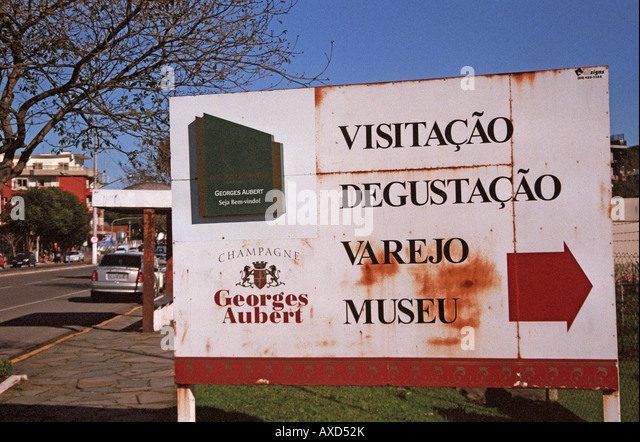 Georges Aubert Winery, Bairro Cairu, Garibaldi, southern Brazil - Stock Image