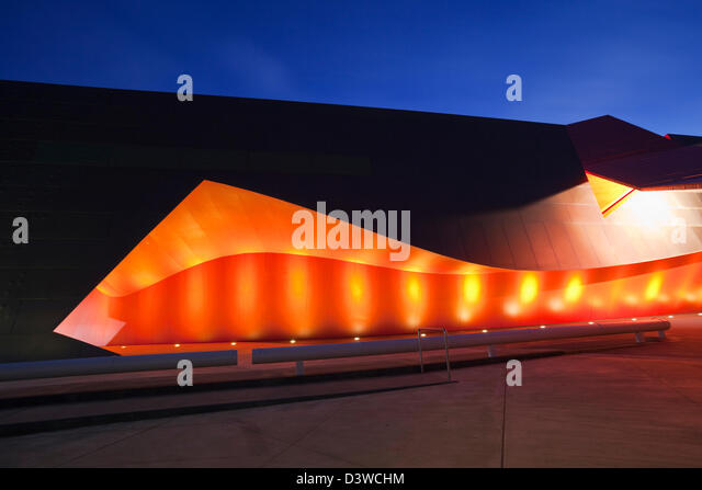 Architecture of entrance to National Museum of Australia. Canberra, Australian Capital Territory (ACT), Australia - Stock Image