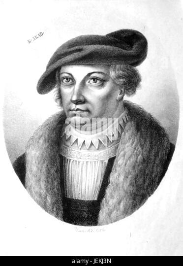 GEORG SPALATIN  (1484-1545) German humanist philosopher - Stock-Bilder