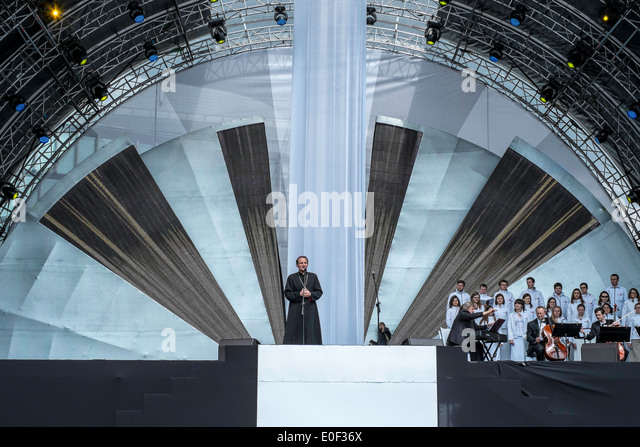 religious mass poland Pope saint - Stock Image