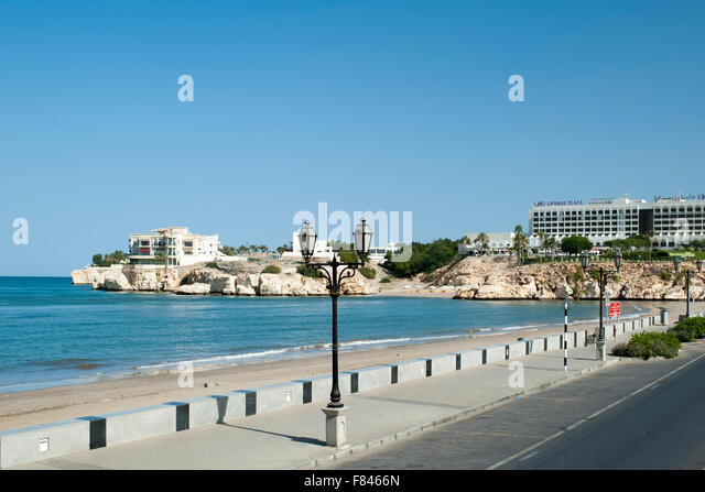 Qurum beach in Muscat, the capital of the Sultanate of Oman. - Stock-Bilder