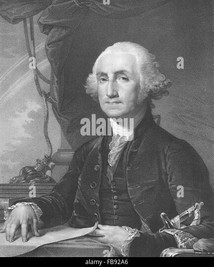 Rembrandt Peale portrait of the first US President George Washington - Stock Image