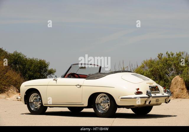 Porsche 356 1600 Super 1960. Artist: Simon Clay. - Stock Image