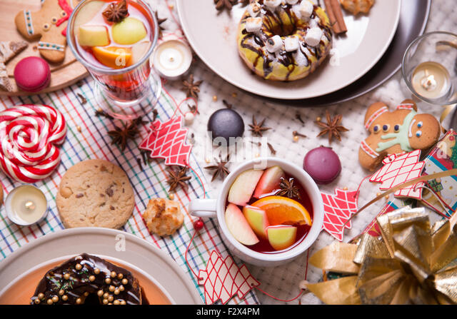 christmas sweets - Stock Image