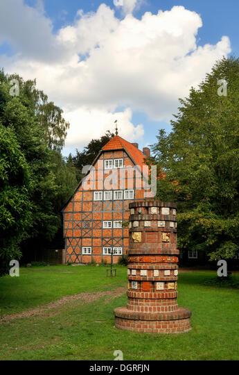 Former Gut Sunder manor, Landkreis Celle district, Lower Saxony - Stock Image