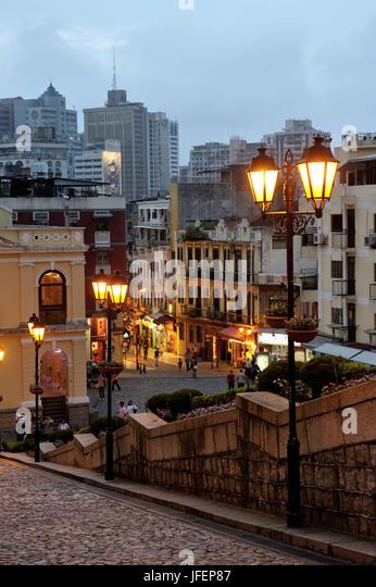 China, Macau, historical center, UNESCO World heritage, Calle de Sao Paulo - Stock Image