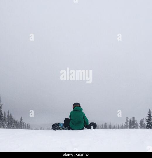Snowboarder Preparing - Stock Image