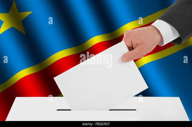 The Democratic Republic of the Congo flag - Stock-Bilder