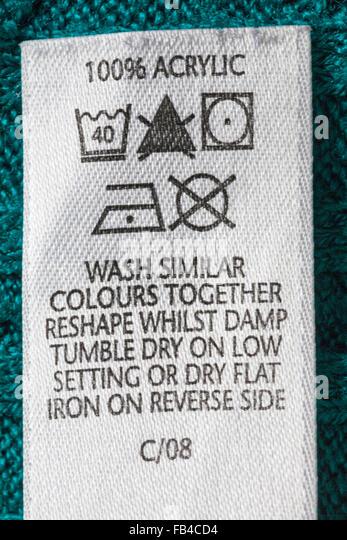 100 acrylic washing instructions