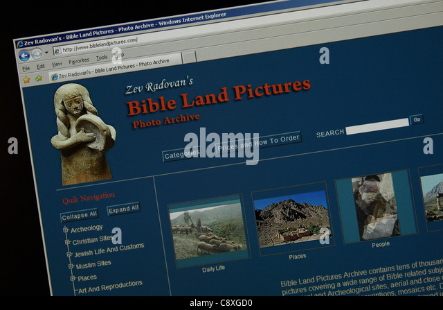bible land pictures - Stock Image