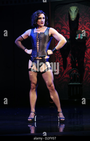Rocky Horror 40th Anniversary Tour -  Oliver Thornton who plays Frank N Furter - Stock Image