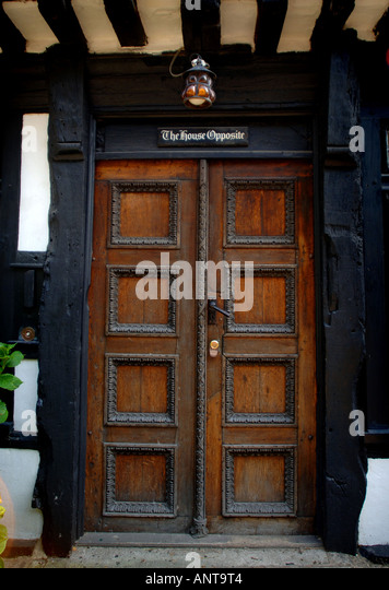 'The House Opposite' in Mermaid Street, Rye, East Sussex. The home opposite the  famous Mermaid Inn. Picture - Stock Image