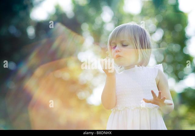 Girl in sunlight - Stock Image
