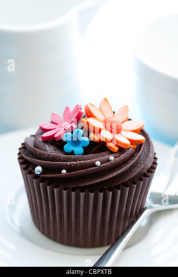 Chocolate cupcake - Stock Image